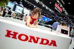 θηλυκός παρουσιαστής Honda &t Στοκ εικόνες με δικαίωμα ελεύθερης χρήσης