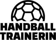 Θηλυκός προπονητής χάντμπολ - γερμανικά διανυσματική απεικόνιση