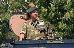 θηλυκός στρατιώτης Στοκ Εικόνες