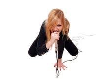 θηλυκός τραγουδιστής β& Στοκ Φωτογραφία