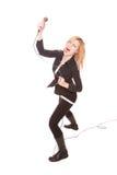 θηλυκός τραγουδιστής β& Στοκ εικόνα με δικαίωμα ελεύθερης χρήσης