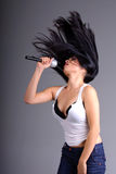 θηλυκός τραγουδιστής Στοκ Φωτογραφίες