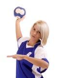 θηλυκός φορέας χάντμπολ στοκ φωτογραφία
