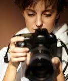 θηλυκός φωτογράφος στοκ εικόνα