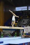 Θηλυκός gymnast που αποδίδει κατά τη διάρκεια της Στέλλα Zakharova του Artistic Gymnastics Ουκρανία διεθνούς φλυτζανιού Στοκ Φωτογραφία
