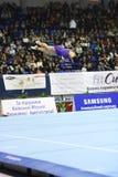 Θηλυκός gymnast που αποδίδει κατά τη διάρκεια της Στέλλα Zakharova του Artistic Gymnastics Ουκρανία διεθνούς φλυτζανιού Στοκ εικόνες με δικαίωμα ελεύθερης χρήσης