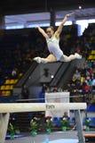 Θηλυκός gymnast που αποδίδει στην ακτίνα ισορροπίας κατά τη διάρκεια της Στέλλα Zakharova του Artistic Gymnastics Ουκρανία διεθνο Στοκ φωτογραφίες με δικαίωμα ελεύθερης χρήσης