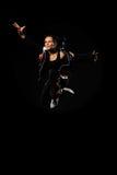 θηλυκό άλμα χορευτών Στοκ εικόνα με δικαίωμα ελεύθερης χρήσης