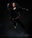 θηλυκό άλμα χορευτών Στοκ Φωτογραφίες