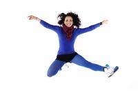 θηλυκό άλμα χορευτών στοκ φωτογραφία με δικαίωμα ελεύθερης χρήσης