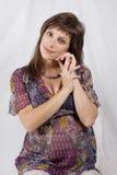 θηλυκό έγκυο Στοκ Φωτογραφίες