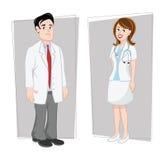 θηλυκό αρσενικό γιατρών ελεύθερη απεικόνιση δικαιώματος