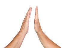 θηλυκό αρσενικό δύο χεριώ& Στοκ Εικόνες