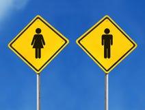 θηλυκό αρσενικό σημάδι Στοκ Εικόνες