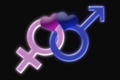 θηλυκό αρσενικό σύμβολο Στοκ Εικόνες