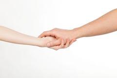 θηλυκό αρσενικό χεριών Στοκ Φωτογραφίες