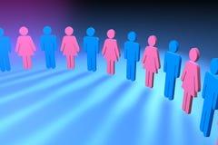 θηλυκό αρσενικό Στοκ φωτογραφία με δικαίωμα ελεύθερης χρήσης