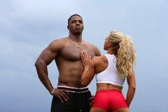 θηλυκό αρσενικό bodybuilders στοκ εικόνα