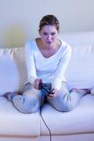 θηλυκό βίντεο gamer Στοκ Φωτογραφίες