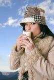 θηλυκό γάλα γυαλιού στοκ εικόνες