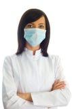 θηλυκό γιατρών που απομονώνεται Στοκ φωτογραφίες με δικαίωμα ελεύθερης χρήσης