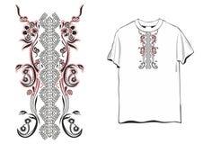 Θηλυκό διακοσμήσεων μπλουζών διανυσματική απεικόνιση