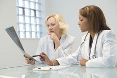 θηλυκό δύο γιατρών στοκ εικόνες με δικαίωμα ελεύθερης χρήσης