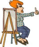 θηλυκό καλλιτεχνών ελεύθερη απεικόνιση δικαιώματος