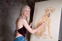 θηλυκό καλλιτεχνών στοκ φωτογραφία