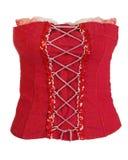 θηλυκό κόκκινο κορσέδων Στοκ Εικόνα