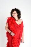 θηλυκό κόκκινο φορεμάτων Στοκ Εικόνες
