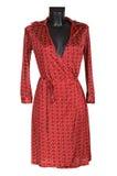 θηλυκό κόκκινο φορεμάτων στοκ εικόνα με δικαίωμα ελεύθερης χρήσης