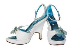 θηλυκό λευκό παπουτσιών Στοκ Εικόνα