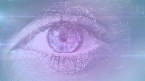 Θηλυκό μάτι που ανοίγει και που στρέφεται φιλμ μικρού μήκους