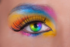 θηλυκό ματιών πολύχρωμο Στοκ εικόνα με δικαίωμα ελεύθερης χρήσης