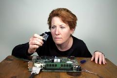 θηλυκό μηχανικών υπολογιστών στοκ φωτογραφίες με δικαίωμα ελεύθερης χρήσης
