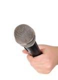 θηλυκό μικρόφωνο χεριών Στοκ Φωτογραφίες