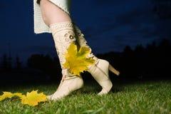 θηλυκό μποτών Στοκ εικόνες με δικαίωμα ελεύθερης χρήσης