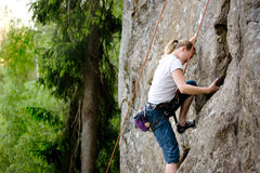 θηλυκό ορειβατών στοκ φωτογραφίες