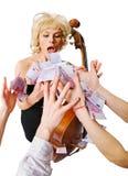 θηλυκό ο μουσικός οργάν&ome στοκ φωτογραφία με δικαίωμα ελεύθερης χρήσης