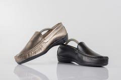 Θηλυκό παπούτσι δέρματος, τοπ άποψη Στοκ εικόνα με δικαίωμα ελεύθερης χρήσης