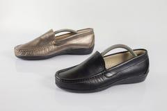 Θηλυκό παπούτσι δέρματος, τοπ άποψη Στοκ Εικόνες