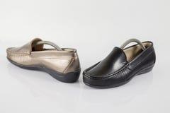 Θηλυκό παπούτσι δέρματος, τοπ άποψη Στοκ Φωτογραφία