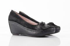 Θηλυκό παπούτσι δέρματος, τοπ άποψη Στοκ φωτογραφίες με δικαίωμα ελεύθερης χρήσης