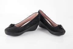 Θηλυκό παπούτσι δέρματος, τοπ άποψη Στοκ φωτογραφία με δικαίωμα ελεύθερης χρήσης