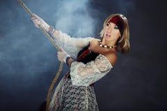 θηλυκό πειρατών στοκ εικόνα με δικαίωμα ελεύθερης χρήσης