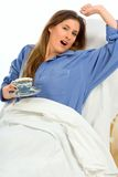 θηλυκό πρωί φλυτζανιών κα&phi Στοκ φωτογραφία με δικαίωμα ελεύθερης χρήσης