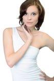 θηλυκό πρότυπο λευκό ανασκόπησης Στοκ φωτογραφία με δικαίωμα ελεύθερης χρήσης