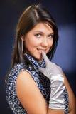 θηλυκό στόμα δάχτυλων προ&s στοκ φωτογραφίες με δικαίωμα ελεύθερης χρήσης