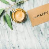 Θηλυκό σχεδιάγραμμα πρωινού με τον καφέ Στοκ εικόνα με δικαίωμα ελεύθερης χρήσης